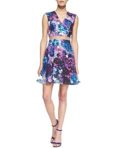 Nha Khanh sheer-waist floral dress, available at CUSP by Neiman Marcus   // @Cusp by Neiman Marcus @Neiman Marcus