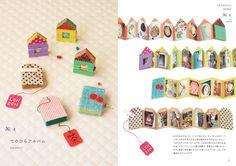 Inspiration: house, book or tea bag accordion book from BNN international. Diy Paper, Paper Art, Paper Crafts, Accordion Book, Matchbox Art, Creation Couture, Handmade Books, Handmade Journals, Travel Scrapbook