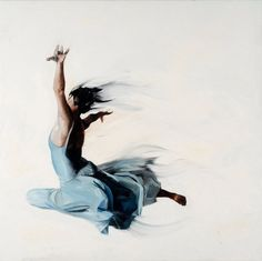 Simon Birch's Beautiful Painting of the Expressive human Body in Motion