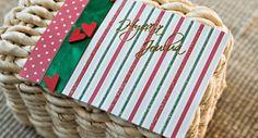 Pilkkuja, raitoja - yksinkertaista ja kaunista Napkins, Gift Wrapping, Tableware, Gifts, Gift Wrapping Paper, Dinnerware, Presents, Towels, Dinner Napkins