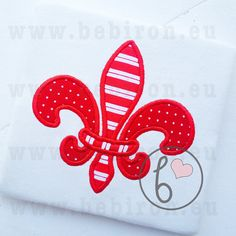 Fleur De Lis Applique Design Machine Embroidery by BebironApplique