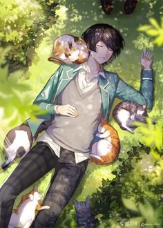 Credit: To it's respected owners. Character Art, Anime Drawings Boy, Cute Anime Guys, Cute Art, Anime Scenery, Anime Characters, Boy Art, Anime Drawings