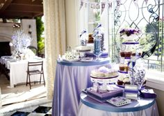 what a pretty baby shower Baby Shower Purple, Purple Baby, Purple Candy Buffet, Baby Siting, Baby Shower Decorations, Table Decorations, Elegant Baby Shower, Baby Blog, Coffee And Books