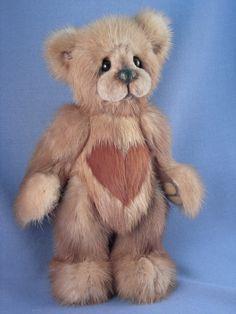 Mink Teddy Bear  http://www.etsy.com/listing/72111006/
