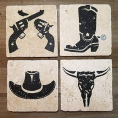 COUNTRY WESTERN COASTERS Father's Day Gift Drink
