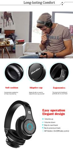 Bluedio UFO 8 Tracks 3D Sound Effect Wireless Bluetooth Headset Bluetooth V4.1 Headphone for Smartphone Tablet PC Computers-199.99 and Free Shipping  GearBest.com