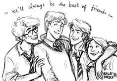 Marauders by bellemrdch on tumblr. This makes me teary-eyed or is that because I'm sick!??!?!?!