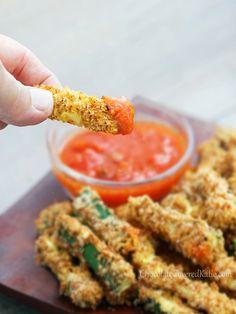 Healthy Crispy Baked Zucchini Fries Recipe