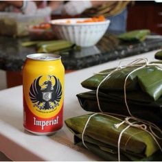 Costarican tamales and beer