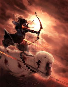 illustrations of Indian gods that will blow away your mind - Rama Rides