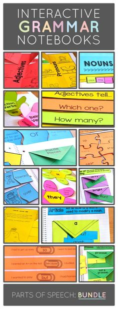 Interactive Grammar Notebook Resource for Primary Teachers