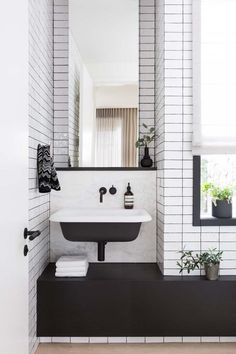 Matte Black Fixtures: Where to Find Them For Less | Black faucets are such a nice change of pace from ubiquitous chrome, or even the brushed brass we've seen so much of lately. when up against clean, bright tile, these dark fixtures look crisp and modern. Black and white together are a classic combo — one that won't go out of style.