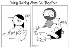 Awesome together fall memes, couples comics, happy relationships, funny fails, funny memes Cute Couple Comics, Couples Comics, Funny Couples, Sweet Couples, Relationship Cartoons, Funny Relationship, Cute Relationships, Catana Chetwynd, Catana Comics