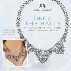 Shop this dress-it-up, dress-it-down statement-maker on my boutique today! https://www.chloeandisabel.com/products/N355/art-deco-convertible-statement-necklace