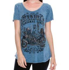 781e7b447e4b Vocal American Original Girl Biker Top Biker, Size Chart, Motorcycle,  Prints, Clothes