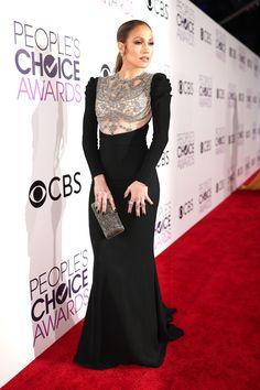 Jennifer Lopez Wears All the Diamonds to the People's Choice Awards  - ELLE.com