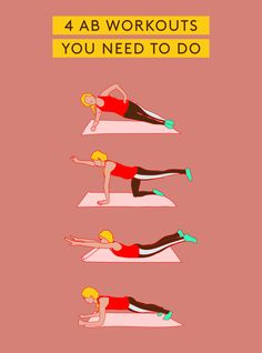 The Best Abs Exercises You're Not Doing #refinery29  http://www.refinery29.com/best-abs-workouts#slide-18  Plank Hip DipsThis variation adds a bit more oblique action to the usual plank, while still requiring stabilization through the front and back core muscles. How-to: Begin in a forearm plank....