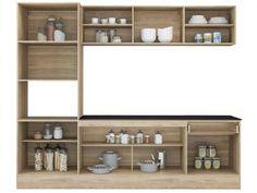 Cozinha Compacta com Balcão Multimóveis Linea - Nicho para Forno Micro-ondas 8 Portas 1 Gaveta com as melhores condições você encontra no Magazine Lucimarmagzine. Confira!