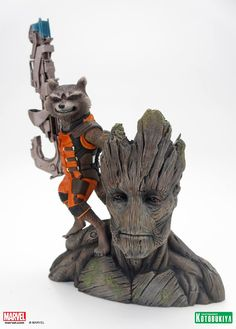 Looking for a hard-to-find statue? FyndIt can connect you with people who know where to score rare and limited statues online and in stores . Post a photo, short description, name your price and we will help you FyndIt! #ComicBooks #FyndIt #Statues Guardians of the Galaxy Rocket Raccoon and Groot ARTFX+ Statue