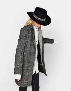 Bershka Greece - Μάλλινο παλτό σε αντρική γραμμή