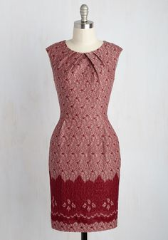 Teaching Classy Dress in Red Lace