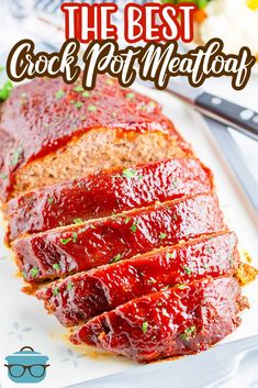 Hearty, easy and delicious, The Best Crock Pot Meatloaf is a true comfort meal that you cook low and slow with the perfect sweet and tangy glaze. A truly delicious family meal. Crock Pot Slow Cooker, Crock Pot Cooking, Slow Cooker Recipes, Crockpot Recipes, Meatloaf Recipes, Meat Recipes, Cooking Recipes, Easy Meatloaf, Entree Recipes