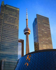 The Tower and the Twins, CN Tower, Toronto, Ontario, Canada Canada Eh, Visit Canada, Downtown Toronto, Prince Edward Island, Alaska Cruise, Largest Countries, New Brunswick, Modern City, France