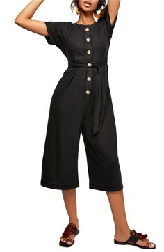 Endless Summer by Free People Lighthouse Crop Jumpsuit, Main, color, Black Jumpsuits For Women, Her Style, Spring Summer Fashion, Fashion Beauty, Ready To Wear, Free People, Nordstrom, Lighthouse, How To Wear