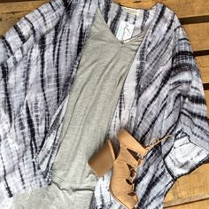 We love layering kimonos over pretty much anything for a cute casual outfit!