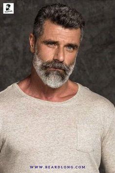 Modern Beard Styles, Medium Beard Styles, Long Beard Styles, Beard Styles For Men, Boys Beard Style, Silver Foxes Men, Mature Mens Fashion, Beard Images, Beard Cuts