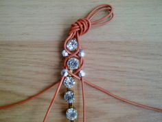 DIY rhinestone bracelet; nice technique, gives me ideas for other applications.    #handmade #jewelry #knotting #macrame