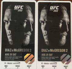 #tickets UFC 202 McGregor VS Diaz 2 (Floor Seats) please retweet