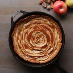 Caramel Rose Apple Pie by Tasty