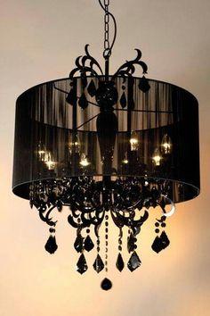 ゝ。Black Chandelier Lamp Dceor