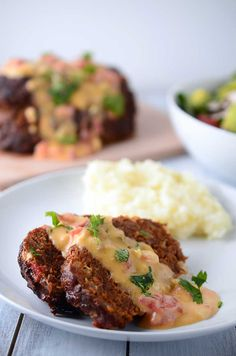 Chorizo Meatloaf with Chipotle Queso Sauce @LifesAmbrosia