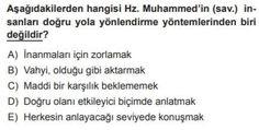 10. Sınıf Din Kültürü ve Ahlak Bilgisi Test 13 Kur'an'a Göre Hz. Muhammed – 4 - Test Çöz Math, Math Resources, Mathematics