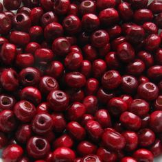 Wooden Beads - Over 200 - Glossy Cranberry / Dark Red - 3 x 4mm (WBD12-0005) via Etsy.