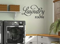Laundry Room Wall Sticker Vinyl Quotes Wall Decal Mural Art Home Decor Lettering Home Decoration Inspirational Wall Quotes, Vinyl Wall Quotes, Vinyl Wall Art, Wall Decals, Sticker Vinyl, Laundry Room Decals, Laundry Room Storage, Closet Storage, Small Storage