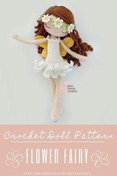 Ballerina Fairy Doll Crochet Pattern - ENG - ESP - Fairy Amigurumi Doll Pattern, 14,5 inches - 37cm, Flower Fairy Crochet Doll Pattern Flower Fairy Crochet Doll - MILA Amigurumi Crochet Pattern. Ballerina Crochet Doll Pattern 14,5 inches - 37cm English and ESPAÑOL!!! Crochet Doll Pattern, Crochet Patterns Amigurumi, Amigurumi Doll, Crochet Dolls, Easy Beginner Crochet Patterns, Crochet For Beginners, Doll Patterns, Flower Patterns, Pattern Flower