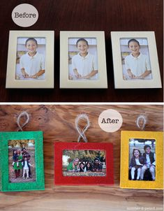 Christmas Ornaments from Dollar Store Picture Frames
