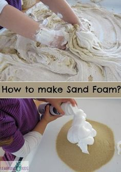 How to make sand foam for sensory play by learning 4 kids