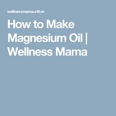 Learn how to make magnesium oil and save money. Find out the benefits of magnesium oil for your health and an easy way to make magnesium oil with on ingredient Make Butter At Home, Magnesium Benefits, Oil Benefits, Magnesium Oil Spray, Money Dance, Make More Money, How To Make, Natural Toothpaste, Wellness Mama