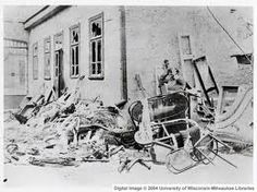 Destruction from a pogrom in 1900's Russia