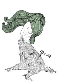 Hair & etc by Wenceslao Buron, via Behance