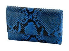 Exclusive python woman's wallet color blue