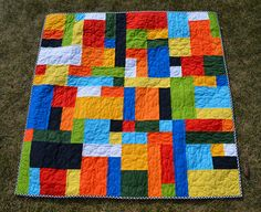 Mama's Crafts: Lego Quilt (Quilt 18) ~~more Lego quilts! These seem like they would go together so easy!~~