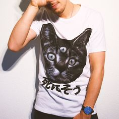 Three Eyed Cat designed by Blackoath. Cat Design, T Shirts For Women, Cats, Fashion, Gatos, Moda, Kitty Cats, Fashion Styles, Cat