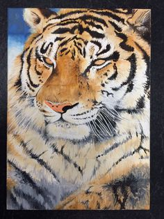 "11x14"" painting prints on foam poster board, multiple prints and sizes available at ShockValueDezigns via Etsy by Michaela Boyer #handpainted #tiger #art #painting #decoration"
