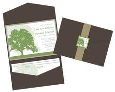 Pocket fold invitation