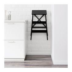 BEKVÄM Stepladder, 3 steps, black